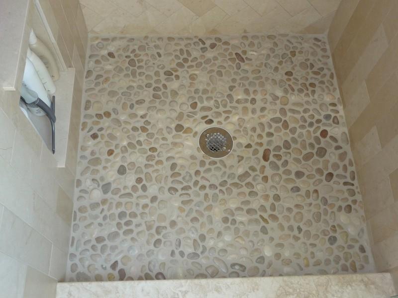 Pebble Shower Floor Stone U Pebbles Tile
